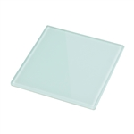 "Smooth Glass 4"" x 4"" (White Back/Non-Tempered)"