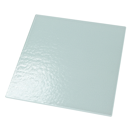 "Textured Glass 12"" x 12"" (White Back/Tempered)"