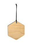 Hexagon Wood Ornament (Case of 120)