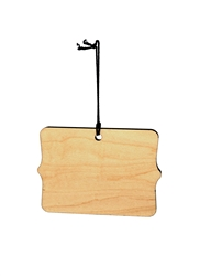 Scalloped Rectangle Wood Ornament (Case of 120)