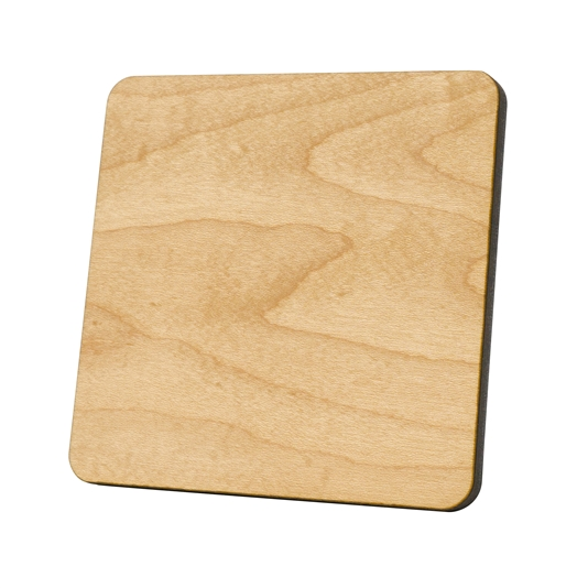 Square Wood Coaster (Case of 100)